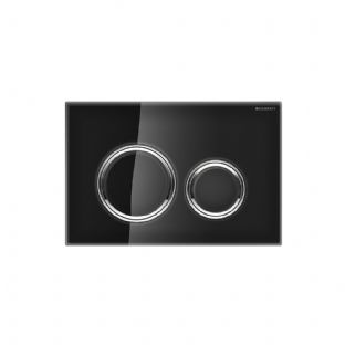 Geberit Sigma21 Black Glass Dual Flush Plate - 115.884.SJ.1